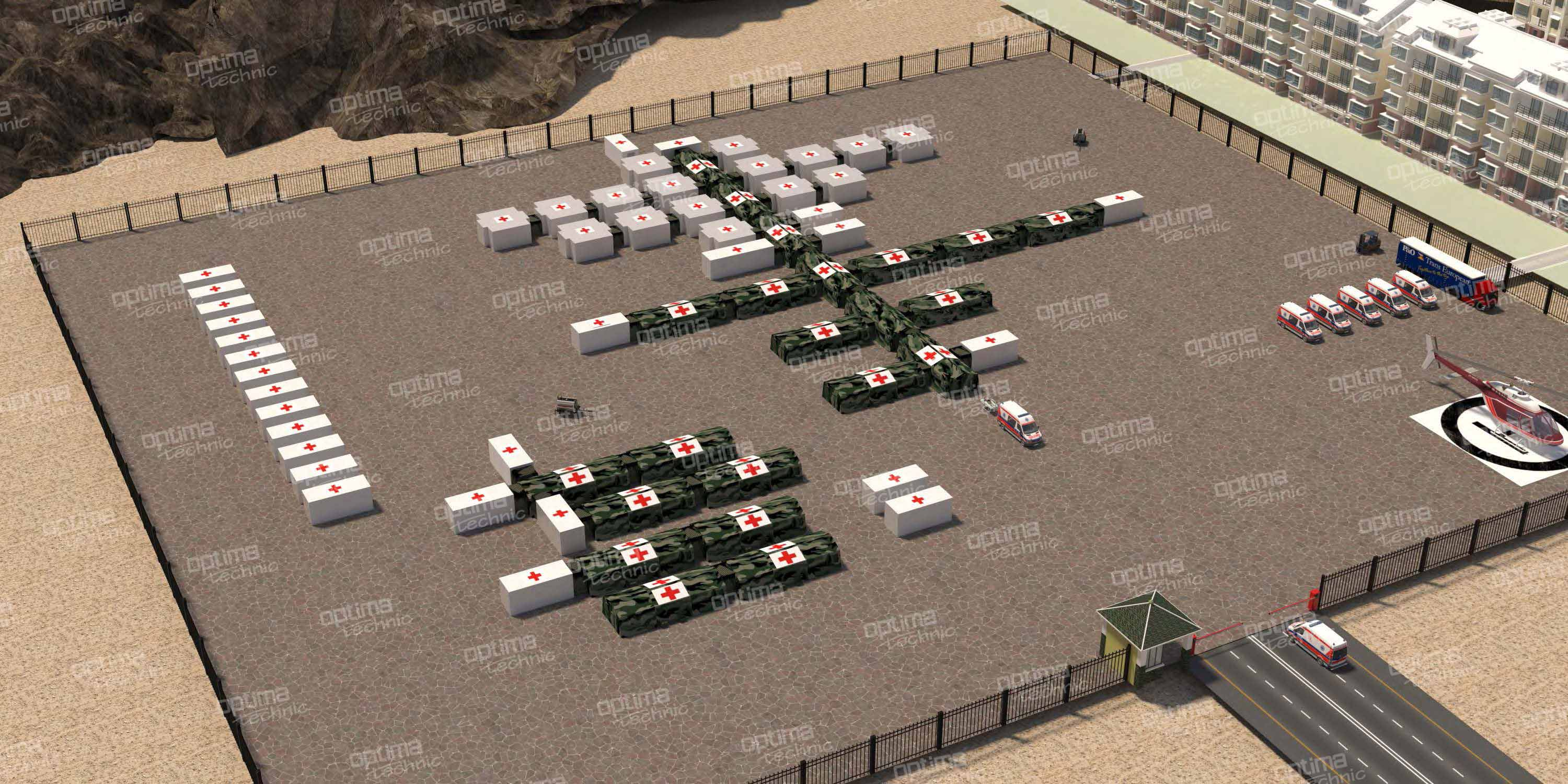Field Hospitals  (25-50-100 beds and more)